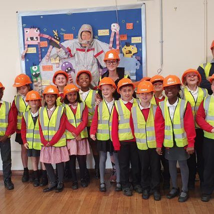 Year 4 pupils from St Michael's Primary enjoy a site visit