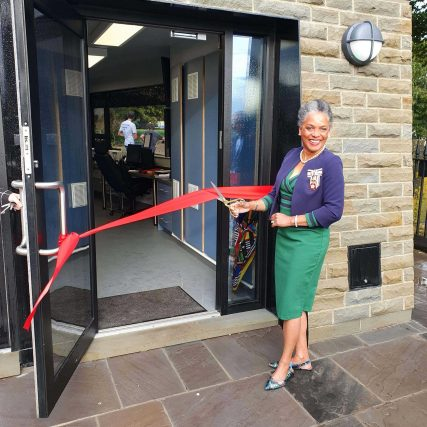 Peaches Golding, Lord Lieutenant of Bristol opens new toll houses at Clifton Suspension Bridge